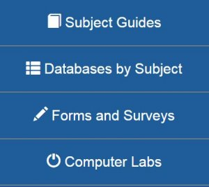 Screenshot of the Databases by Subject link on the IRSC libraries homepage.