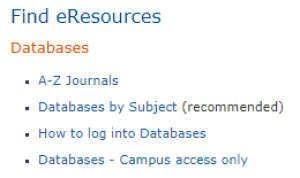 Find eResources
