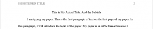 Paper Title and First Paragraph